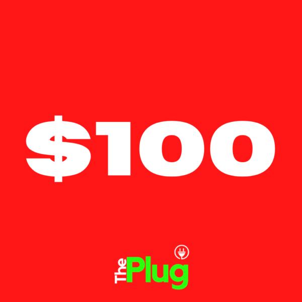 $100 Plug Credits (10% Bonus)